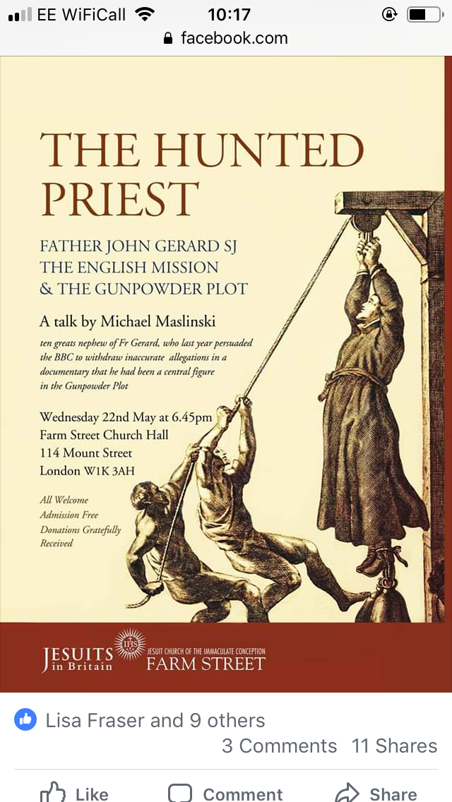 The Hunted Priest, Farm Street, 22 May 2019